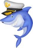 Shark captain cartoon. Illustration of Shark captain cartoon Royalty Free Stock Photography