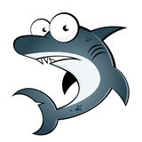 Shark cartoon vector illustration