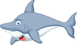 Shark cartoon character Stock Photos
