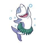 Shark cartoon dancing. Vector illustration stock illustration