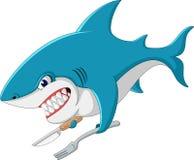 Shark cartoon illustration. Cute Shark cartoon of illustration stock illustration