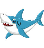 Shark cartoon illustration stock illustration
