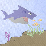 Shark cartoon made from tissue papercraft Stock Photo