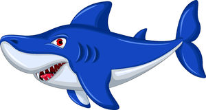 Shark cartoon smiling Royalty Free Stock Images