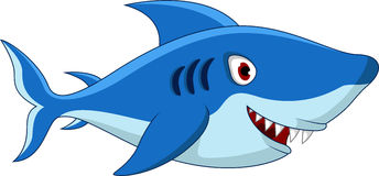 Shark cartoon for you design Royalty Free Stock Photos