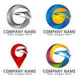 Shark Circle Concept Logo Royalty Free Stock Image