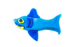Shark , clay on white background Royalty Free Stock Photography