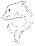 Shark coloring page. Useful as coloring book for kids Stock Photo