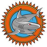 Shark. Comic illustration of a shark. vector clip-art Stock Photos