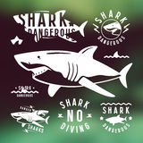 Shark dangerous emblems Royalty Free Stock Photo