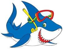 Shark diver Stock Images