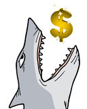 Shark dollar. Creative design of shark dollar Stock Photos