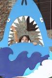 Shark eats me stock photo