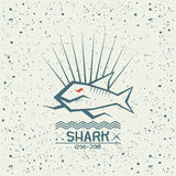 Shark emblem Royalty Free Stock Photos