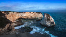 Shark Fin Beach Davenport Californai Stock Photos