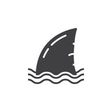 Shark fin icon vector, filled flat sign. Solid pictogram isolated on white. Symbol, logo illustration Stock Image
