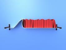 Shark Fin Shelf. 3d concept render of Creative Shelf Stock Photos