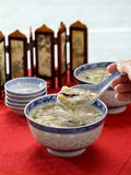 Shark Fin Soup. Traditional chinesse soup with shark fin royalty free stock images