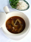 Shark fin soup in casserole Royalty Free Stock Images