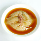 Shark fin soup. Chinese cuisine food restaurant shark fin soup menu hong kong style royalty free stock photo
