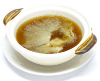 Shark fin soup Royalty Free Stock Photography