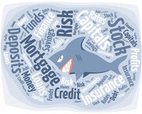 Shark in the financial world Stock Photography