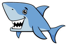 Shark fish cartoon character. Cartoon Illustration of Shark Fish Sea Life Animal Character Royalty Free Stock Image