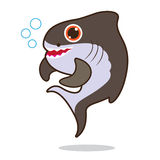 Shark fish cute cartoon Stock Image