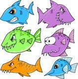 Shark and fish Set Royalty Free Stock Image