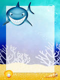 Shark with frame Stock Photos