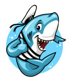 Shark. Giving a thumbs up royalty free illustration
