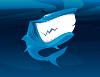 Shark huge smile vector. Shark having a huge smile  illustration Royalty Free Stock Photos