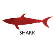 Shark icon illustrated. On a white background Royalty Free Stock Photos