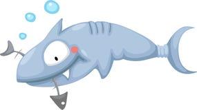 Shark. Illustration of a shark eating Stock Images