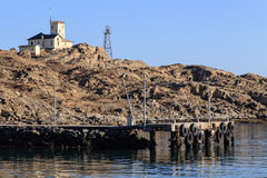 Shark Island Light House - Luderitz, Namibia Royalty Free Stock Images