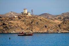 Shark Island Light House - Luderitz, Namibia Royalty Free Stock Photography