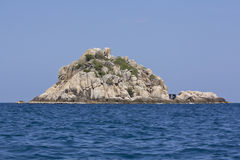 Shark island near Koh Tao in Thailand Royalty Free Stock Photo