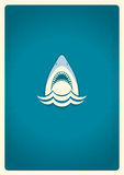 Shark jaws logo.Vector blue symbol illustration Stock Image