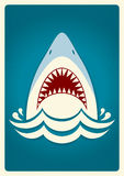 Shark jaws.Vector background illustration Royalty Free Stock Image