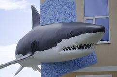 Shark. Large predatory white shark sculpture Royalty Free Stock Image