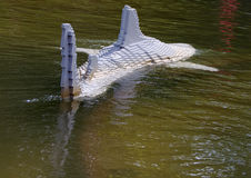 Shark in Lego. A shark in the water constructed with Lego bricks in Legoland, Billund, Denmark stock images