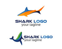 Shark logo. Vector set of abstract emblems and logo design templates in bright gradient colors - fish icons and signs Stock Photos