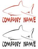 Shark logo. And your company name Stock Photography
