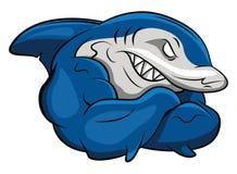 Shark Mascot. Eps 10 illustration Design royalty free illustration