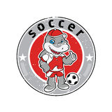Shark mascot football team logo Royalty Free Stock Photo