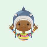 Shark mask boy Royalty Free Stock Photography