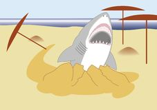 Shark with open mouth royalty free illustration