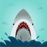Shark open mouth in the ocean. Illustration Royalty Free Stock Photos