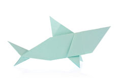 Shark of origami Royalty Free Stock Photos