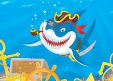 Shark Pirate Royalty Free Stock Photos
